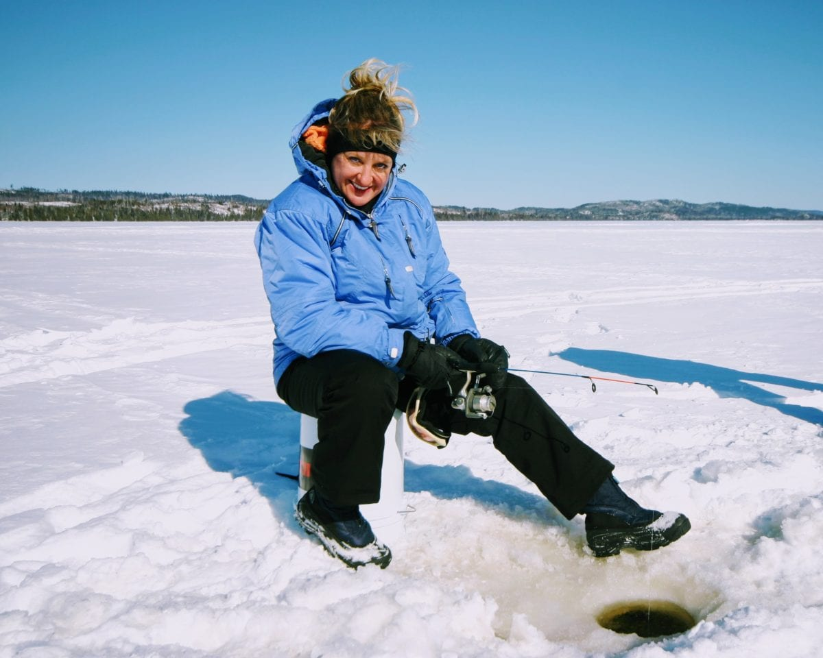 Winter packages gunflint lodge for Ice fishing deals